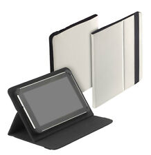 Uni Tablet Book Style Case f Colorfly U781 Q1 Ultima Tasche Hülle creme weiß