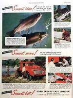 1949 Ford Truck Colorado Fish Vintage Advertisement Print Art Car Ad Poster LG73