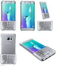 100% Genuine Samsung Galaxy S6 Edge Plus QWERTZ Keyboard Cover Case Silver NEW