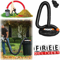 "Leaf Vacuum Hose 8"" Blower Collection System Multi Fit Adapter Lawn Garden New"