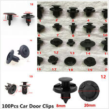 100Pcs  Dashboard Audio DVD Plastic Screw Panel Push Fastener Rivet Bumper Clips
