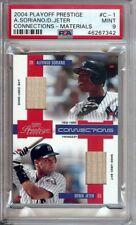 Derek Jeter Alfonso Soriano 2004 Prestige Dual Bat Graded PSA 9 Mint #C1 002/250