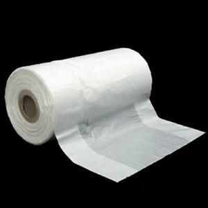 Clear / Green Produce Roll Bags Heavy Duty Gusset Freezer Plastic Supermarket