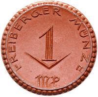 Freiberg - Münze - 1 Mark 1921 - Meissen - Porzellan
