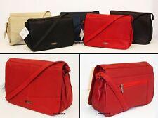 Lorenz Zip Patternless Shoulder Bags