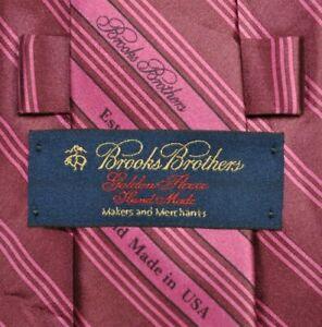 BROOKS BROTHERS GOLDEN FLEECE SEVEN FOLD 7 FOLD Tie Silk Burgundy Color L62 W3.9