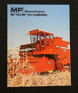 1975 MASSEY FERGUSON MF 750 760 MF750 MF760 COMBINE CATALOG SALES BROCHURE MINT