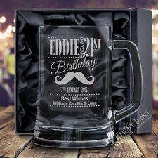 Personalised Engraved 500ml Beer Mug Tankard Birthday Glass 18th 21st 30th 40th