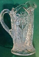 EAPG Beautiful Pitcher 474 Imperial Pattern 7.5 inches tall.