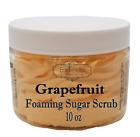 GRAPEFRUIT Exfoliating Foaming Sugar Body Scrub, 10 oz jar