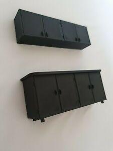 1:18 scale 3d printed  WORKSHOP CUPBOARD SET for garage diorama