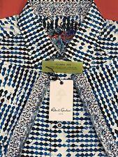 Robert Graham EPPERSON Blue Classic Fit Short Sleeve Shirt - Men's (XL) NWT