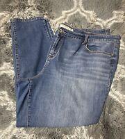 Torrid Womens Light - Medium Wash Stretch Curvy Skinny Denim Jeans Size 26