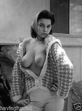 Late 60s Sabine Demois Open Sweater large breasts Pinup  8  x  10 Photograph