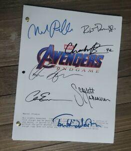 AVENGERS ENDGAME Full CAST signed script Chadwick Chris Hemsworth Marvel Loki
