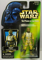 1997  Kenner Star Wars Bossk POTF 2 Green Card Japanese Sticker Figure MOC