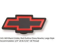 Proform 141-369: Black w / Red Outline Chevy Bowtie -Large Style Air Cleaner Nut