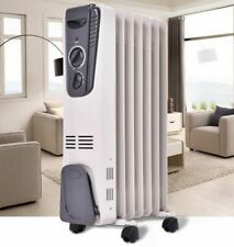 Oil Heater Safe Space Heater Large Room Radiator 1500W High Efficiency Portable