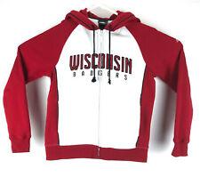 Wisconsin Badgers Hoodie Full Zipper Sweatshirt Adidas Size Medium