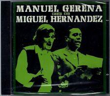 MANUEL GERENA - Canta Con Miguel Hernandez - SPAIN CD Alia 2001 - Flamenco