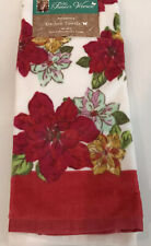The Pioneer Woman Christmas Poinsettia Kitchen Towel Set- 2 Holiday Dish Towels