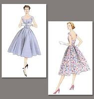50s fifties style dress sewing pattern, Vintage Vogue V2960 size 4-18 retro