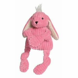 Hugglehounds Knottie Plush Dog Largel Toy Durable Squeaky Bunny Play Chew Fetch