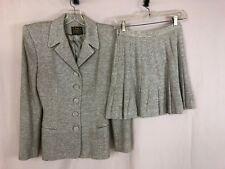 OMO Norma Kamali Vintage 1980's Gray Knit Skirt Suit