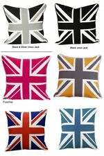 100% Cotton Union Jack British Flag Design Cushion Cover Pillow Case Sofa