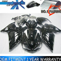 Drilled Gloss Black Fairing Kit BodyWork for KAWASAKI NINJA ZX14R 2012-2013 2014