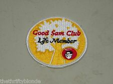 GOOD SAM CLUB EMBROIDERED SEW ON  PATCH LIFE MEMBER 16896 Iron