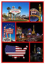 Las Vegas, USA - Negozio di souvenir novità Magnete del frigorifero - Viste -
