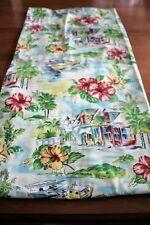 Retired Waverly Cabana Village Tropical Floral Key West Shower Curtain EUC