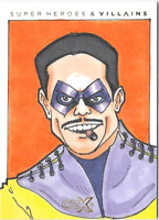 Cryptozoic CZX DC Super Heroes & Super-Villains Sketch Card Jeff Abar Comedian
