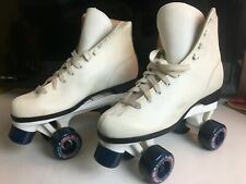 Vintage Roller Skates - Women's Size 9 White Classic Quad Roller Derby