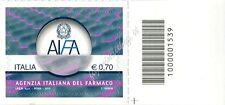 2013 francobollo Agenzia Italiana del Farmaco SX CODICE A BARRE 1539