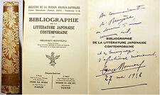 JAPON/BIBLIO DE LITTERATURE JAPONAISE CONTEMPORAINE/G.BONNEAU/1937/ED GEUTHNER