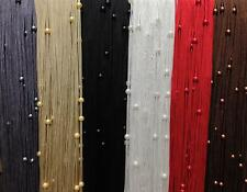 NEUTRAL BEADED STRING CURTAIN Fly Screen Door Curtain