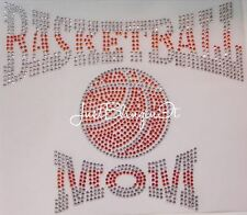 Basketball Mom Perspective Hot Fix Rhinestone Iron On Transfer Bling MADE IN USA