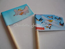 20 CUPCAKE FLAGS/TOPPERS - DUMBO CHILDRENS BIRTHDAY PARTY