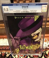 D.C. Comics New 52 Batman 40 Joker Variant Cgc 9.8
