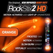 Oranje RockStix2 HD - Heavy Duty LED Light Up Drumsticks (Firestix)