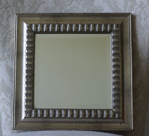 """Silver Framed Square Wall Mirror, 11.75"""" x 11.75"""", Ready to Hang!"""