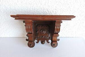 alte Gründerzeit Wandkonsole Board Holz massiv um 1890