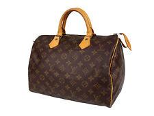 LOUIS VUITTON Speedy 30 Monogram Canvas Leather Hand Bag OLH0040