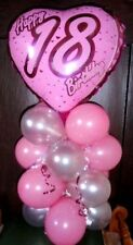 """18"""" FOIL BALLOON TABLE DISPLAY DECORATION AGE 18 18TH BIRTHDAY HEART - AIR FILL"""