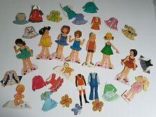 Girl Children Tinker Mattel Jackie and More Doll Paper Doll Set Vintage