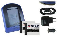 2x Baterìas + USB Cargador NP-BD1 FD1 para Sony Cyber-shot DSC-T700, T900, TX1