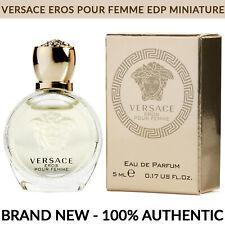 VERSACE Eros Pour Femme Eau de Parfum Women Perfume 0.17 oz 5ml Miniature Bottle