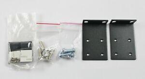 New Black 1U Rack Mount Ears With Screws (Lot of 10 Pairs)